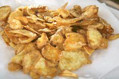 Como fazer aperitivo de casca frita de batata