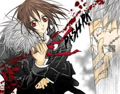 Scene from the first manga where Zero takes Yuki's blood out of bloodlust