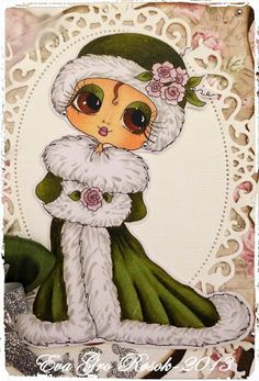 Bestie close-up by Eva Gro.... see entire card in blog post