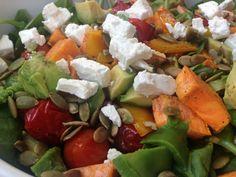 Zoete aardappel salade met avocado - I Love Health