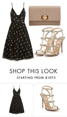 """Untitled #3550"" by evalentina92 ❤ liked on Polyvore featuring Valentino and Fendi"