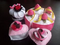 Felt Cake and Sweets Pattern  TEA PARTY CAKES  by LittleCrickets, $4,50