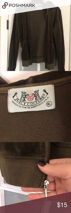 Juicy hooded velour zip up Green juicy velour xl zip up Juicy Couture Tops