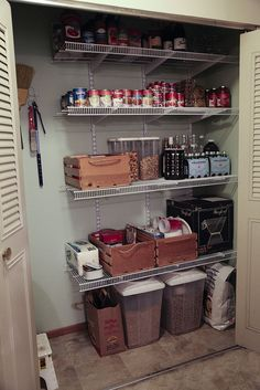 Hall Closet Turned Into A Pantry   This Would Give Space For The Vacuums