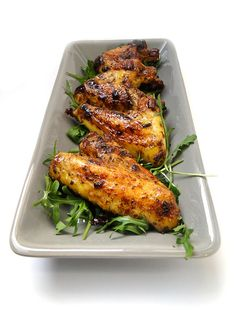 Chicken wings with pomegranate molasses. Sticky, sweet, messy - perfect food truck food!