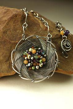 Pinwheel Woven Pendant - Bead and Button?