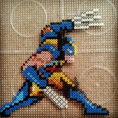 Wolverine hama perler bead sprite by fromlusttodust on deviantART