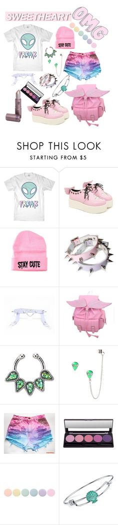 """pastel goth"" by chickadeeanya ❤ liked on Polyvore featuring Stay Cute, Deborah Lippmann and Disney"