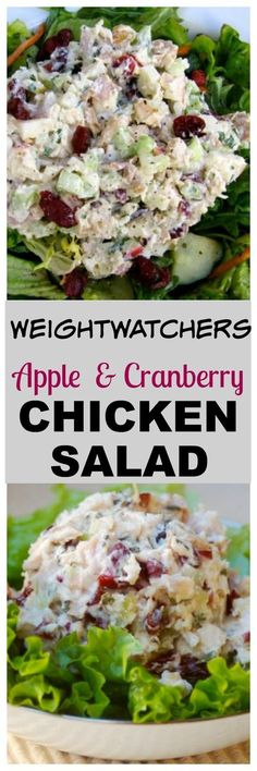 Weight Watchers Chicken Salad with Apples & Cranberries Recipe with SmartPoints.