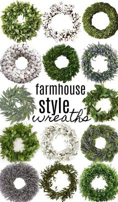Shop all the wreaths above with my affiliate links: southern magnolia wreath [HERE] lemon leaf wreath [HERE] small magnolia leaf wreath [HERE] preserved boxwood wreath [HERE] Solid cotton wr…