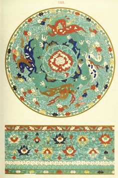 Examples of Chinese ornament, selected from objects in the South Kensington Museum and other collections : [estampe] / by Owen Jones -- 1867 -- images J Calligraphy, Decoration, Art Decor, Art Nouveau, Chinese Ornament, Chinese Background, Street Art, Chinese Prints, Chinese Patterns
