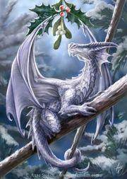 "Snow Dragon by Anne Stokes.  ""Anne Stokes- Artist"""