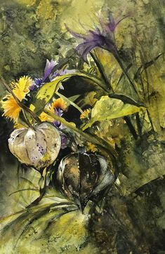 Winners of the Jean Haines Flower Painting Competition. Autumn to Summer by Diana Boanas