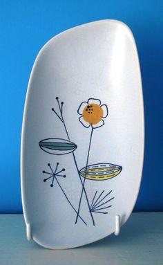 1960s Scandinavian Ceramic Floral Dish by GoodnightPrudence, £10.00
