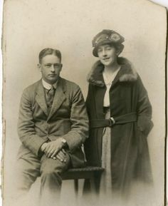 Agatha and Archibald Christie on their wedding day in 1914