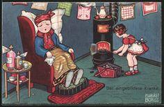 carte postale ancienne: CPA Illustrateur Margret Boriss: Der eingebildete Kranke
