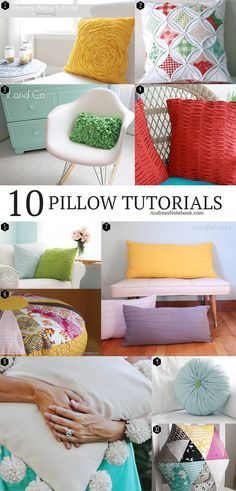 10 Beautiful Homemade Pillow Tutorials | Andrea's Notebook
