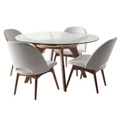 Adrian Pearsall Game Table and Chairs for Craft Associates   From a unique collection of antique and modern dining room sets at http://www.1stdibs.com/furniture/tables/dining-room-sets/