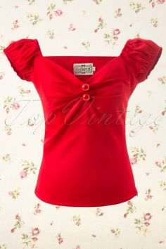 Collectif Clothing - Dolores top Carmen red