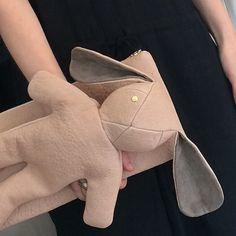 MC x Dominic Louis bunny clutch! Bunny Bags, Fabric, Fashion, Tejido, Moda, Tela, Fashion Styles, Cloths, Fabrics