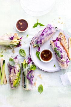Vegetarian Rice Paper Rolls with Quorn Chicken-style Fillets via @crushonlinemag