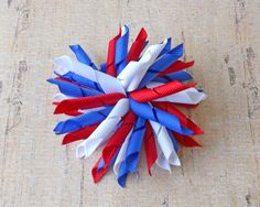 "4th of July Korker Hair-Bow instructions! Learn how to make these little ""firecrackers"" on the blog!"