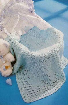 Melhor do Crochê: Manta para bebe ursinho
