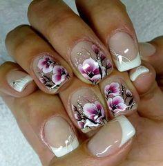 Amazing Picks For Clear Nail Designs Nail Art Designs 2016, Clear Nail Designs, Fingernail Designs, Simple Nail Art Designs, New Nail Art, Easy Nail Art, Cool Nail Art, Nailart, Cherry Blossom Nails