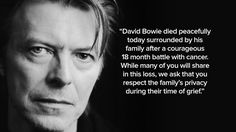 Sadness has been felt right across the world for music icon David Bowie, following his shock death from cancer, at the age of 69.