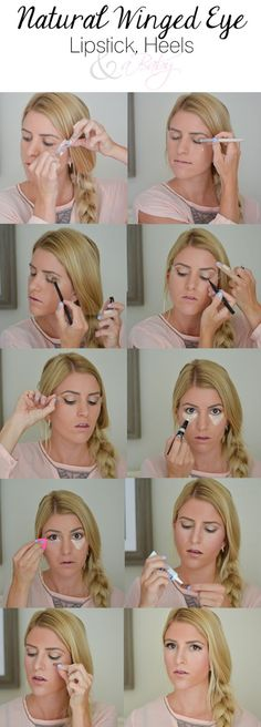 Natural Winged Eye TutorialNo Need for Sore FeetFringe and Flags
