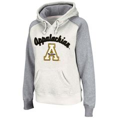 Appalachian State Mountaineers Ladies Stone-Ash Mesa Logo Pullover Hoodie Sweatshirt