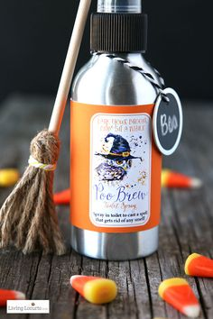 Halloween Poo Brew | Homemade Toilet Spray and Printables