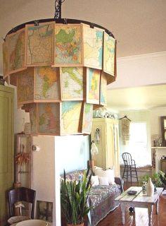 interesting map chandelier