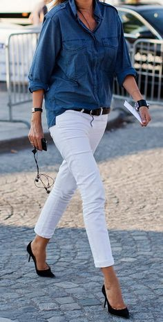 White Jeans Outfit https://treatsvodkaandstyle.wordpress.com