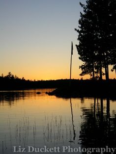 Sunset on Jumping Cariboo Lake, Temagami