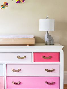 diy color-block dresser