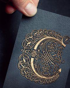New embroidery monogram fonts initials letters ideas Calligraphy Letters, Typography Letters, Caligraphy, Calligraphy Artist, Font Alphabet, Graffiti Alphabet, Islamic Calligraphy, Illuminated Letters, Illuminated Manuscript