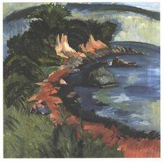 Côte de Fehmarn de Ernst Ludwig Kirchner (1880-1938, Germany)
