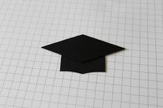 """Here's how I made my graduation cap for the card I made yesterday . First start with a 1"""" strip of Basic Black card stock. Lay one poi..."""