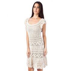 Crochetemoda: Vestido de Crochet Branco