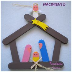 Ideas que mejoran tu vida Popsicle Stick Christmas Crafts, Popsicle Crafts, Christmas Crafts For Kids, Christmas Deco, Craft Stick Crafts, Holiday Crafts, Fun Crafts, Christmas Time, Christmas Ornaments