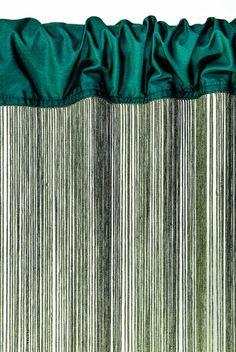 "String Curtain Evergreen  3' x 68 1/2"" - Polyester & Cotton ""Nassau"""