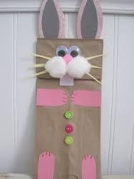 Image result for paperbag craft rabbit