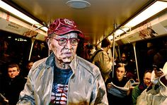 body painted to look like painterly paintings and set to walk around the world like that. so cool. #AlexaMeade