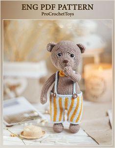 Crochet Bear, Cute Crochet, Crochet For Kids, Crochet Animals, Newborn Crochet Patterns, Crochet Patterns Amigurumi, Handmade Toys, Handmade Ideas, Cute Toys
