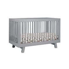 """Babyletto Hudson 3-in-1 Convertible Crib with Toddler Rail - Gray - Babyletto - Babies """"R"""" Us"""