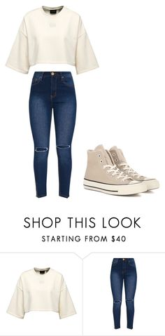 """Untitled #313"" by thenerdyfairy on Polyvore featuring Converse"