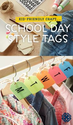 Picture-perfect looks take a little bit of planning! Pick out a week's worth of outfits with this quick closet tag DIY!