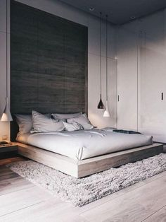 44 Stunning Minimalist Modern Master Bedroom Design Best Ideas is part of Minimalist bedroom design - Would you like to design the perfect modern master bedroom Do you find that you have plenty of space to […] Modern Bedroom Design, Master Bedroom Design, Home Decor Bedroom, Bedroom Designs, Master Bedroom Minimalist, Modern Bedrooms, Bedroom Loft, Bedroom Interior Design, High Ceiling Bedroom