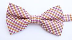 OCIA® Mens Checkered Microfiber Pre-tied Bow Tie - ND022 at Amazon Men's Clothing store: